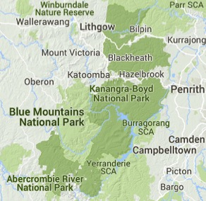 Blue Mountains nature - Blue Mountains National Park on