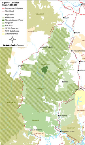 NPWS Yengo Wilderness Map