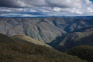 View to Mt Shivering from Colboyd Range