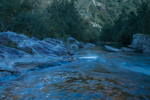 Kowmung River enters Bulga-Denis Canyon